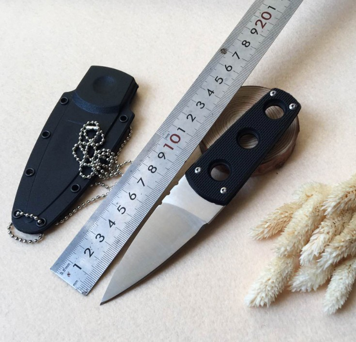 wholesale small fixed blade knife for outdoor with g10 <strong>handle</strong> and sheath keychain
