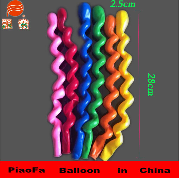 Shenzhen Factory Wholesale stuffing machine long shape Inflatable Rubber Latex Screw Balloons