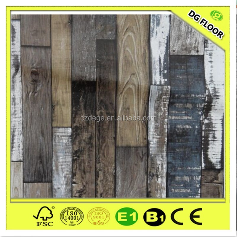India Market Popular Grey Dark Colour Laminate Flooring
