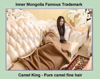 excellent hand feeling camel cashmere throw blanket