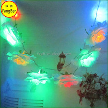 christmas decoration LED street motif light decorative artificial flower with light