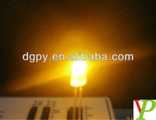 High bright 10000mcd 5mm led diode yellow 590NM