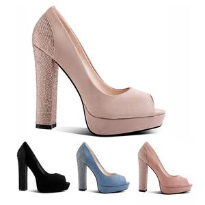 Spring new apricot heels pumps women shoes women's dress shoes pumps