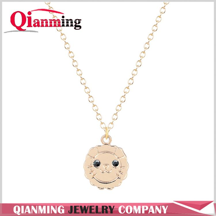 Best seller custom design color diamond alloy necklace in many style