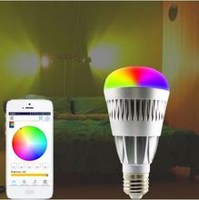 10W WIFI LED Light Bulb Bluetooth Intelligent Lighting mobile phone wifi control led panel light