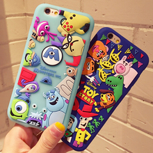 custom Cartoon 3D animal Toy Story Mania waterproof silicone phone case for Iphone 5 6 7