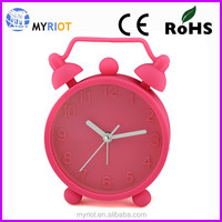 Silicone soft unbreakable gift double bell alarm clock for kids