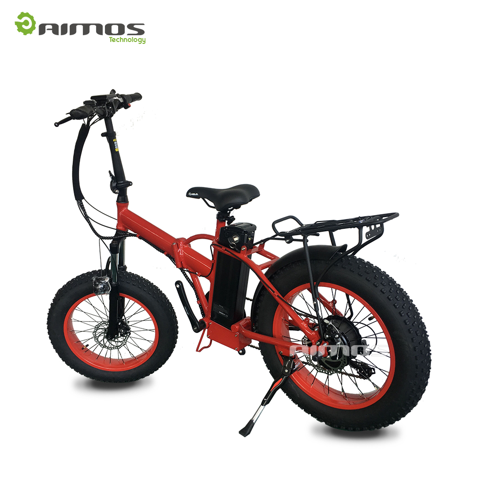 "20"" fat tyre mountaion electric bike folded ebike for beach leisure with 48V 1000W gear motor"