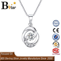 2015 new products small 925 sterling silver pendant for christmas item