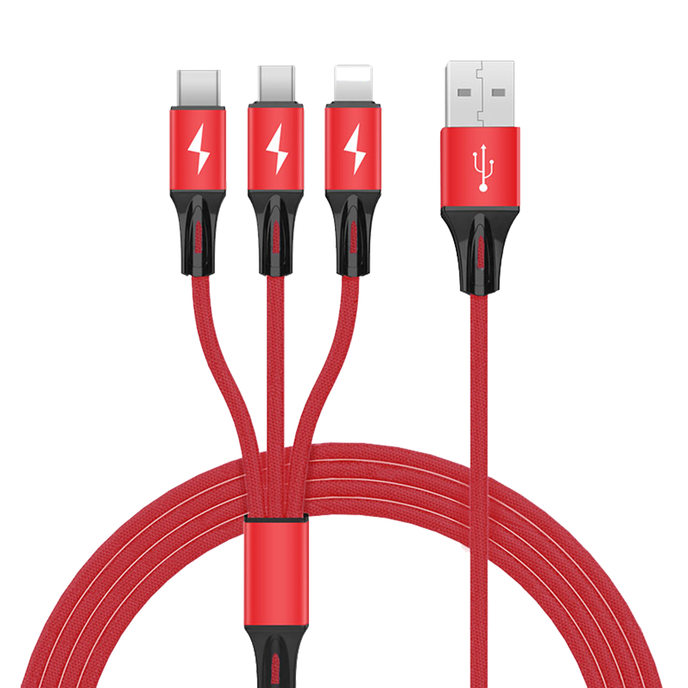 Have Stock 2019 New Product 3A 3 in 1 USB Data Charging Cable