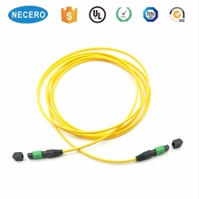 outdoor armoured fiber optic patch cord with orange cable, sm mm mpo fiber patch cord e 2000
