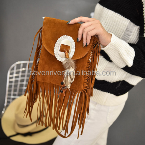 new design frosted pu women mobile phone shoulder messenger bag