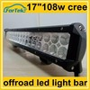 17 inch cree 108w off road led light bar China supplier exporting