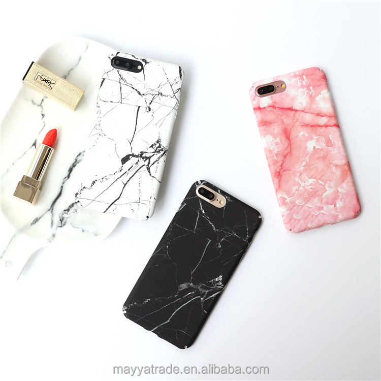 White Pink Black Crack Marble Protective Case color Hard PC Tough Case for iPhone 6 6S
