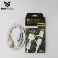 engineering 1.5m data cable support 5v-2A output fast charging and quick syncing cable 2 in 1