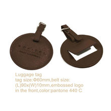 round luggage tag pictures of leather products