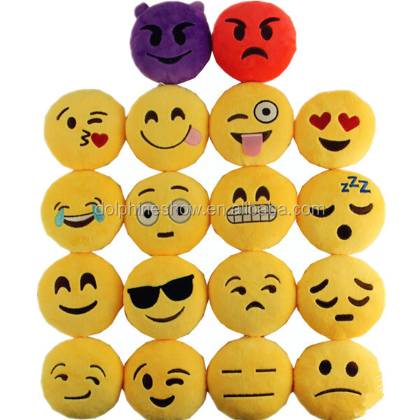 Top selling custom emoji emoticon fashion cute soft stuffed plush toy emoji keychain