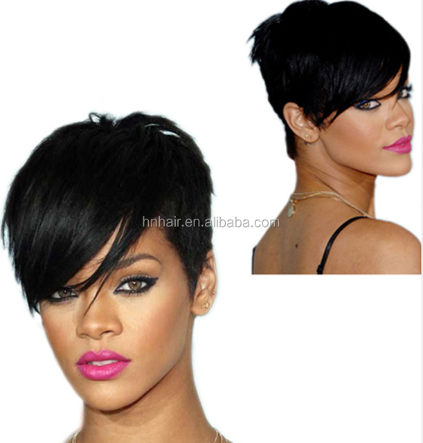 wholesale Very Cheap Heat Resistant Fashion Silky Straight Wave Brown Short Bob Synthetic Hair Wig