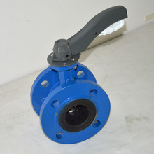high quality flange connection hand butterfly valve