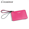 Saffiano Leather Pouch With Zipper Women Party Clutch Purse Ladies Clutch Bag