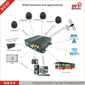DTY motion detection ptz xmeye rohs h.264 4ch dvr with CE FCC ROHS