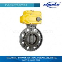 2016 china supplier valve manufacture ISO standard 12 inch upvc butterfly valve