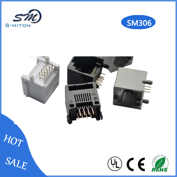 High quality socket RJ45 pcb 8 pin connector jack socket connector