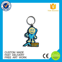 promotion gifts 3d toy logo design soft pvc keychain