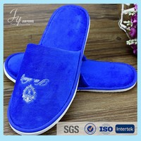 beautiful cotton velour hotel slipper with logo