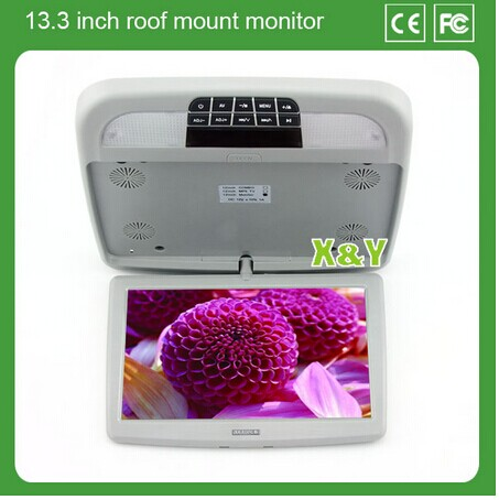 "Hot selling 13.3"" Car Pillow Headrest Monitor car m5 player (XY-133)"