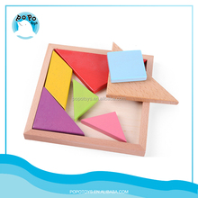 Flexible puzzle toy wooden tangram intelligence game