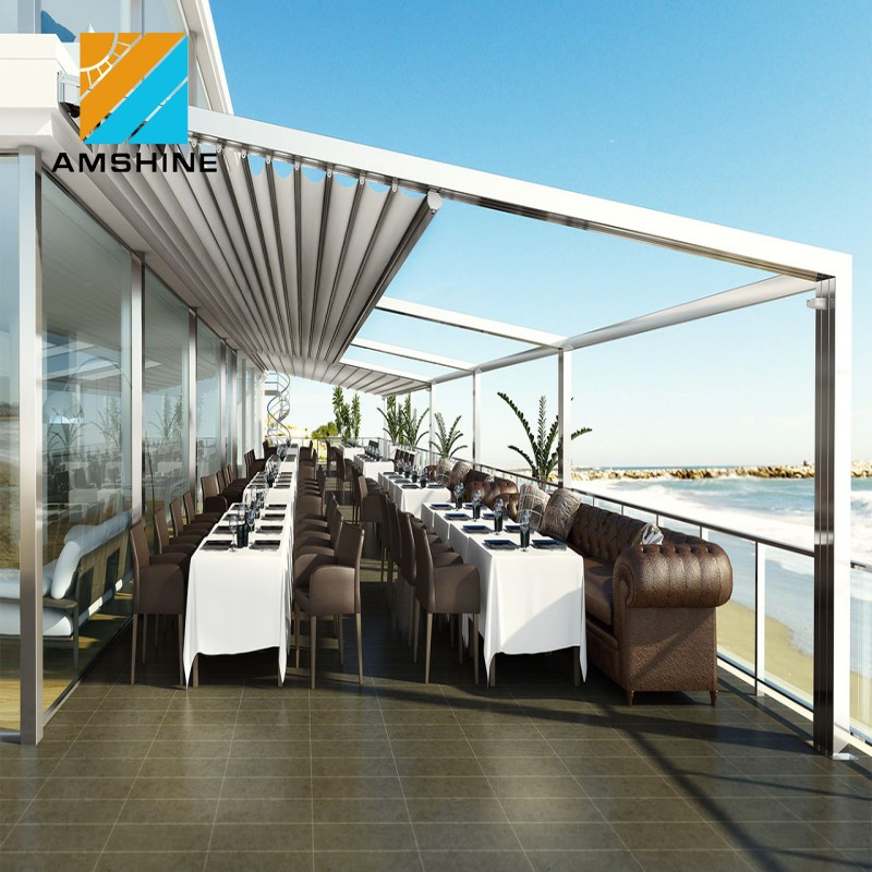 Sunshading rainproof outdoor luxury garden modern retractable awning track