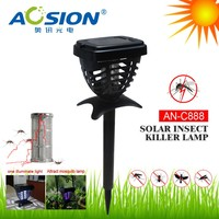 Solar Panel Bug Pest Killer mosquito Fly insect Zapper Catcher Trap/Garden Light