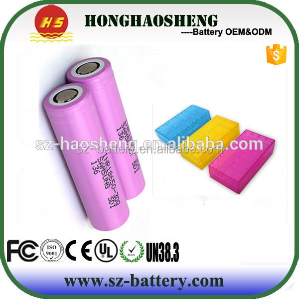 30Q 3.6V INR 18650 Li-ion battery cell rechargeable Lithium ion batteries 10A discharge e-cigarette MOD