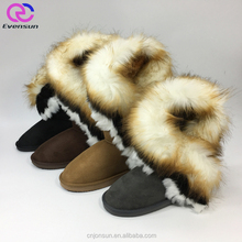 Latest Arrival Fashion Style Women Durable Warm Fake Fur Snow Boots