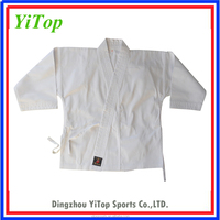 WKF wholesale high quality white karate uniform for kids