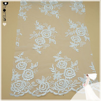 "52""/Yd DH-BF 497 Fancy Wedding Hand Made Heavy Beaded Embroidery Lace Fabric/Dhorse Fashion Bridal Lace"