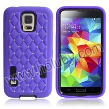 Bling Starry Sky Stars Pattern Full View Touch Screen 3 in 1 Detachable Silicone PC Hard Hybrid Case for Samsung Galaxy S5 Case
