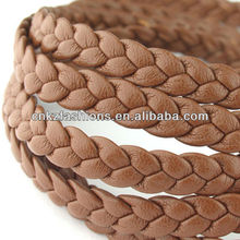 1 meter of 3x3mm Camel Flat Braided Leather Like Cord