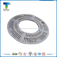 China sand mold casting machining round shaped cast iron tree grating
