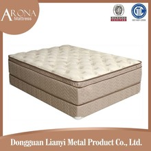 Plush soft knitted mattress fabric pocket spring visco-elastic foam mattress bed mattress