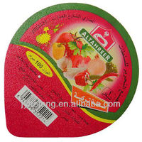 Aluminium packaging die cut yogurt lids