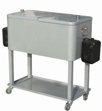 metal locking cooler box with Cart wheels