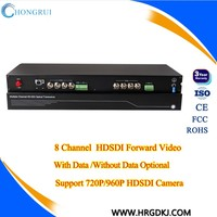8 ch 1310/1550nm hd-sdi converter over fiber for sdi camera