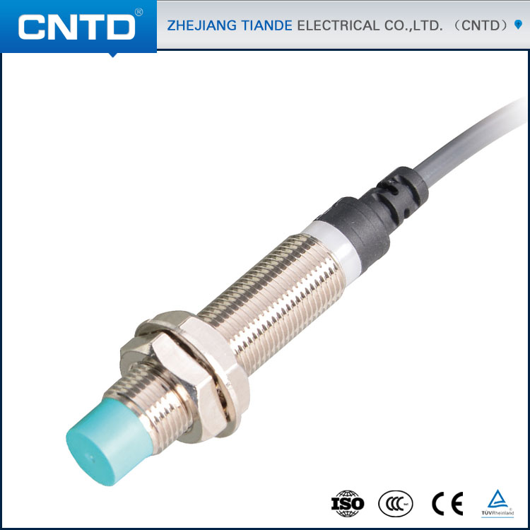 CNTD Brand Switch M12 Cable Connection Inductive Proximity Switch DC 2Wire Type Proximity Detector (CJY12-04LA)