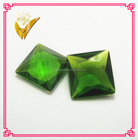 china make green glass stone for jewelry