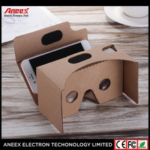 2017 Cheapest VR Box 3D cardboard glasses V2.0 for 3.5 to 6 inch phones google cardboard Box Paper virtual reality DIY Box