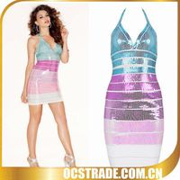 2016 colourful ombre bodycon dress bali clothing wholesale