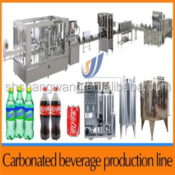 Carbonated drinks production line/carbonated drinks making machine/carbonated beverage production line