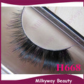 H668 style 100% Real Horse hair Thick crossing false horse fur hair eyelashes